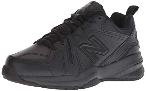 New Balance Women's 608v5 Casual Comfort Cross Trainer, Black, 8 B US