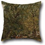 Oil Painting Frederick W. Watts - Landscape With Cottages Pillow Shams 18 X 18 Inches / 45 By 45 Cm For Lounge,teens Girls,bench,study Room,bar,saloon With Double Sides ()