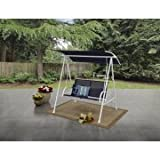 Mainstays! Two Person Swing (Blue/White)