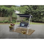 Blue Porch Swing (Mainstays! Two Person Swing - Blue/White)