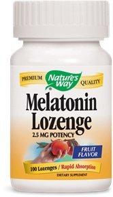 Nature's Way Melatonin Lozenge, 2.5 mg, 100-Count