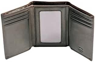 Stealth Mode Trifold RFID Blocking Leather Wallet for Men
