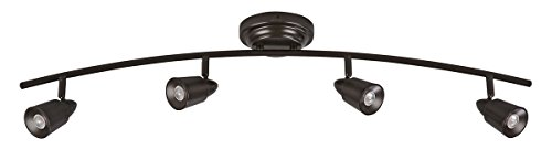 Track Fixed (AFX Lighting TRRF4200LEDRB3K Frosted Acrylic LED Fixed Track Light Fixture, Oil Rubbed Bronze)