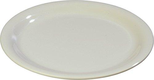 - Carlisle 4300642 Durus Narrow Rim Melamine Salad Plate, 7.25