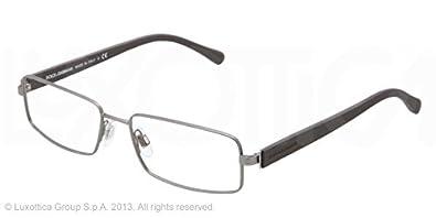 97e9bd964000 Amazon.com  Dolce   Gabbana DG1237 Eyeglasses-1186 Matte Gunmetal ...