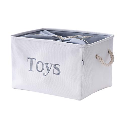INough Toy Storage Bins for Baby, Fabric Toy Bin Storage Baskets with Handles for Organizing, for Home/Nursery/Kitchen/Office/Closet/Shelf Baskets, 16 x 12.2 x 11 Inches (Large)