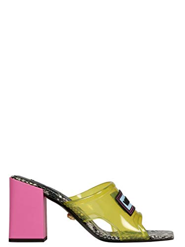 Collection Poliuretano Sandali Dsr966ldgo9df2oh Versace Giallo Donna 1xfd1nq