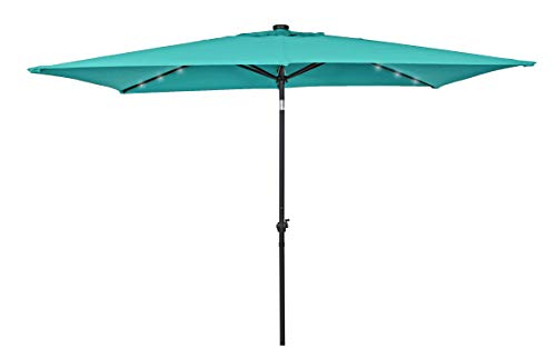 HERMO 106 RECT 10 Ft Outdoor Patio Umbrella 8 Ribs Garden Parasol(Green)