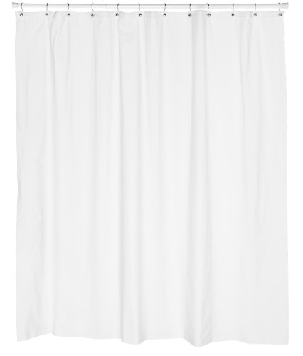 Carnation Home Fashions 10-Gauge Anti Mildew Shower Curtain Liner, White, 72