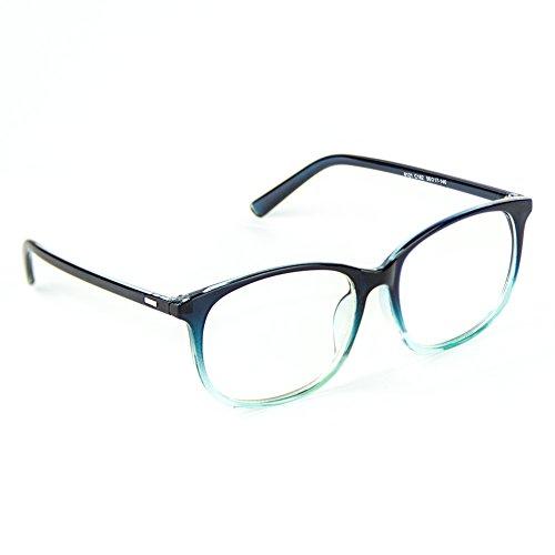 Cyxus Blue Light Blocking Glasses with Anti Eyestrain Gradient Bluish Green Frame - Gradient Glasses Frames