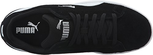 PUMA Mens Smash SD Sneaker, Black White, 5 M US