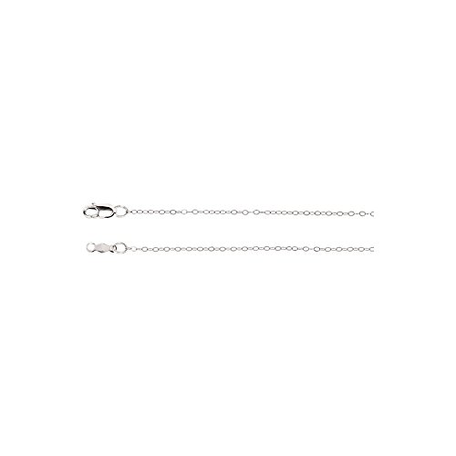White-gold 1Mm Curb Chain With Lobster Clasp (Gold 1mm White Chain Curb)