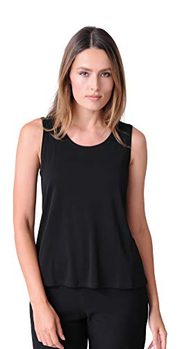 Eileen Fisher Stretch Silk Jersey Scoop Neck Tank