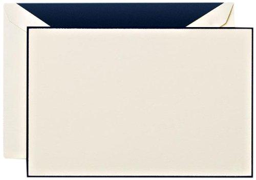 (Crane & Co. Navy Blue Bordered Correspondence Card)