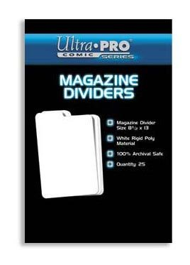 Ultra PRO Magazine Dividers (25 Count Pack), Small, White