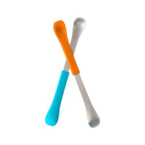 Asst Ended Feeding Spoons Tangerine