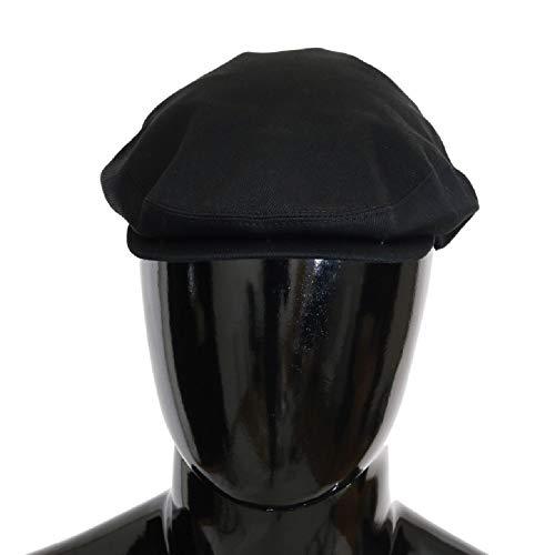Dolce & Gabbana Black Cotton Newsboy Hat