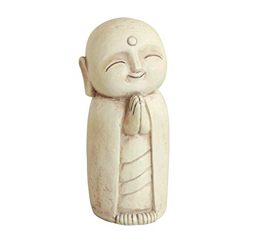 Buddha Groove Healing and Calming Happy Little Jizo Monk Statue | 5 Inches