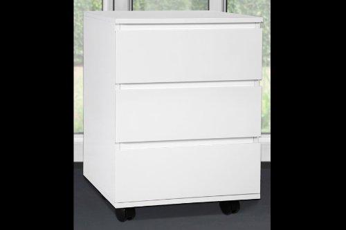 Schreibtisch Rollcontainer Big Deal Hochglanz Weiß Amazonde Küche