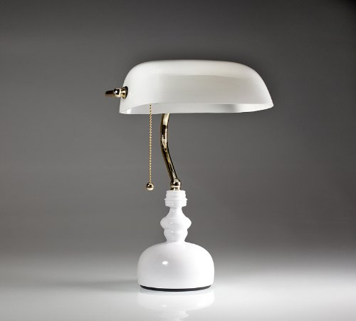 Baroque White Desk / Piano Lamp