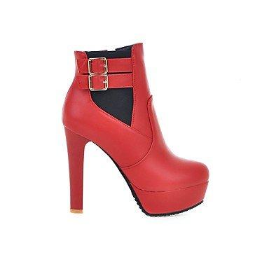 Botas de Mujer Otoño Invierno Comfort polipiel vestir casual hebilla Stiletto talón caminando Ruby