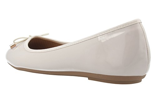 Bailarinas Beige Para Patent Footwear De Nude Fitters Mujer Sintético Material 0qX5Awx