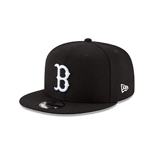 - New Era Authentic Boston Redsox Black & White 9Fifty Snapback Cap Adjustable 950