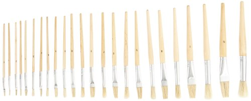 Wooden Childrens Paintbrush Assortment Brushes