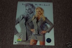 Debra McMichael Autographed 8x10 Photo Mounted Memories Coa