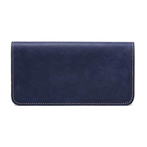 De Téléphone Vacances Bleu Crazy Portefeuille Leather À Main Sac Portable Pour Cuir Long Clutch Hommes En Casual Cadeau Retro UxxaST