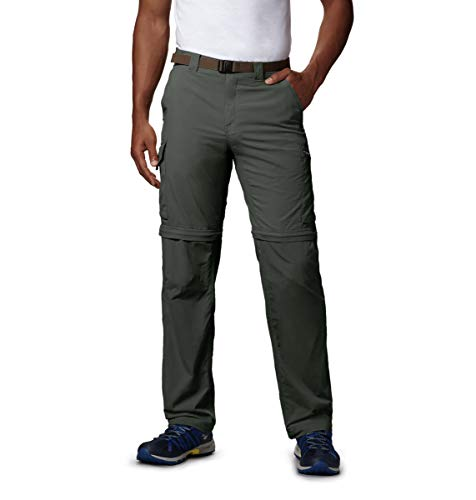 Columbia Men's Silver Ridge Convertible Pant, Breathable, UPF 50 Sun Protection, Gravel, 34x32