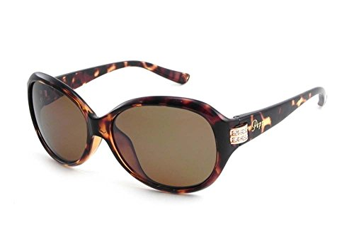 Peppers Polarized Sunglasses Kendall Shiny Tortoise with Brown FM Lens MP819-5