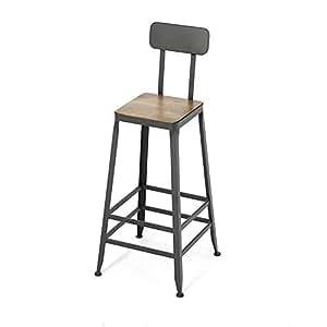 yi kui american style fer art chaise de bar en bois massif. Black Bedroom Furniture Sets. Home Design Ideas