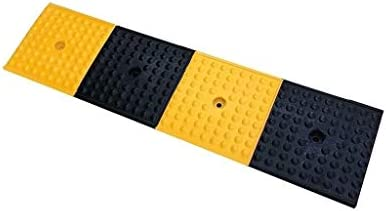XUZgag 多機能縁石スロープ、イエローとブラックラバーのスレッショルドスロープ工場倉庫車両スロープアウトドアサービススロープ 安全な上り坂パッド (Size : 100*25*4CM)