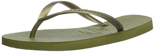 Havaianas Women's Slim Flip Flop Sandal, Camo Green, 9-10 M US ()