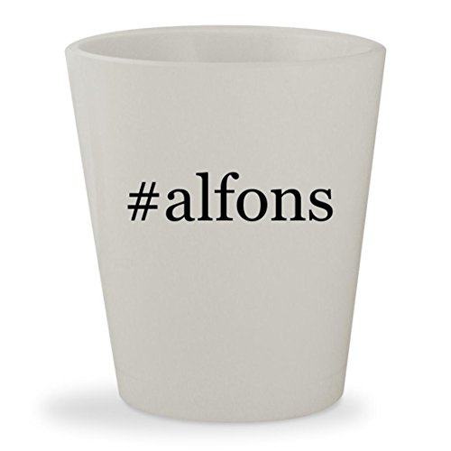 #alfons - White Hashtag Ceramic 1.5oz Shot Glass
