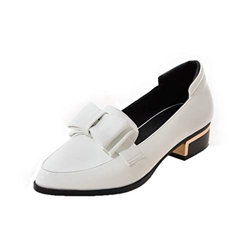AllhqFashion FBUIDD005851 Donna Puro Bianco Flats Basso Tirare Ballet Tacco 0xfq0wr