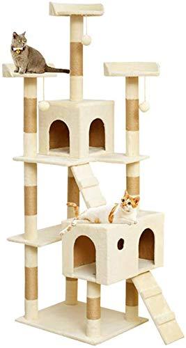 FTFDTMY Mehrschichtiger Katzenkletterrahmen, Katzenklinik Katzenmöbel Kratzbaum Villa Einteilige Katzensprungplattform…