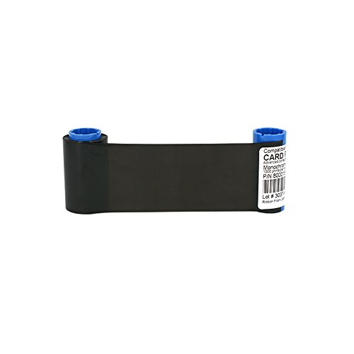 Monochrome Ribbon for Zebra P300 P310 P320 Card Printer 800015-101 Print Ribbon ()