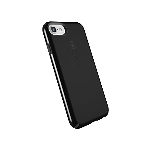 Rubberized Protector Black Shield Case (Speck Products CandyShell Cell Phone Case for iPhone 8 (Also fits 7/6S/6) - Black/Slate Grey)