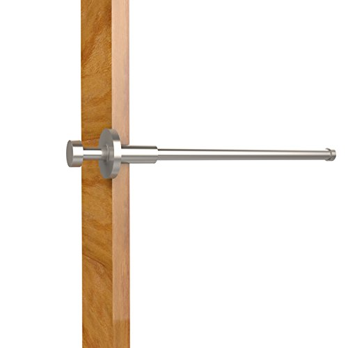 Brass Out Pull Rod Garment - Allied Brass FR-23-SN Pullout Garment Rod, 10-Inch, Satin Nickel