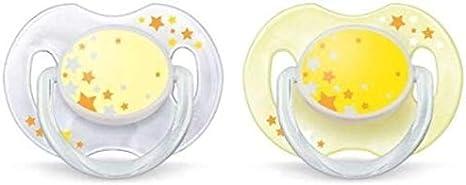 Philips Avent SCF176/18 - Chupete nocturno que brilla en la oscuridad, 2 unidades, de 0 a 6 meses, niño, surtido: modelos y colores aleatorios: Amazon.es: Bebé