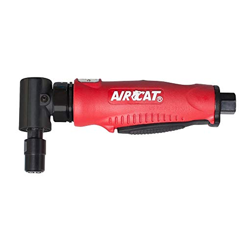 AIRCAT 6255 Professional Series Red Composite Angle Die Grinder With Angled Gear ()