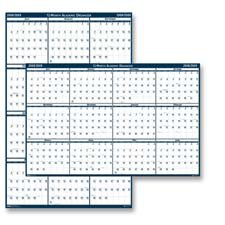 (House of Doolittle 3965 Poster Style Reversible/Erasable Yearly Academic Calendar, 18 x 24, 2015-2016)