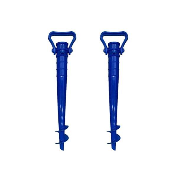 Yardwe 2Pezzi Picchetto di Supporto per ombrellone Mare Spiaggia in plastica Porta ombrellone da Spiaggia,Blu (16.5 x 7… 1 spesavip