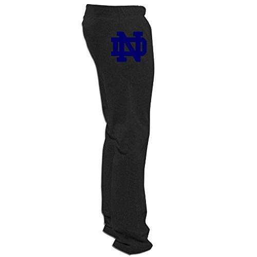 Men Notre Dame Fighting Irish Logo Sweat Pants Black XX-L...