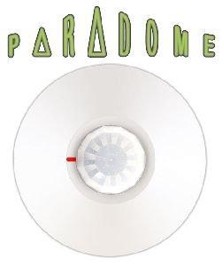 Paradox dg467 Detector PIR de techo con sensor de doble elemento, Cubierta 360 °