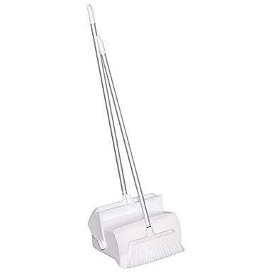 7 X 14 Bin 37 Handle White Polypropylene//Polyester//Aluminum Remco 62505 Lobby Dustpan with Broom