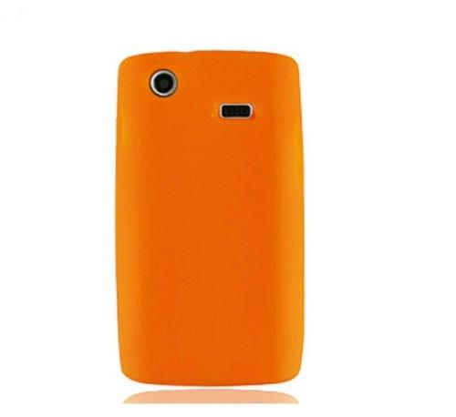 Samsung Captivate I897 Lcd - FastSun LCD Guard + Silicone Cover Case for Samsung Captivate Galaxy S SGH-i897 SGH-I896 (Orange)