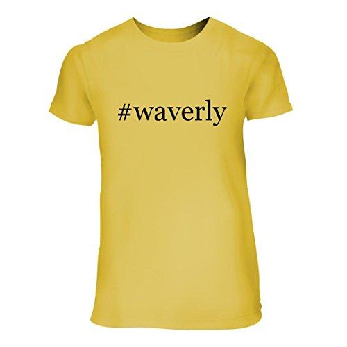 #waverly - A Nice Hashtag Junior Cut Women's Short Sleeve T-Shirt, Yellow, (Waverly Cotton Shower Curtain)